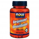 Arginine & Ornithine, 100 caps Now Foods