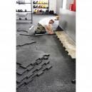 Λαστιχένιο πάτωμα, πλακάκι, λείο, 100x100cm, πάχους 15mm 94451 Amila