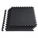 Δάπεδο προστασίας Puzzle EVA (Μαύρο) 1.2cm (Σετ 4τμχ)